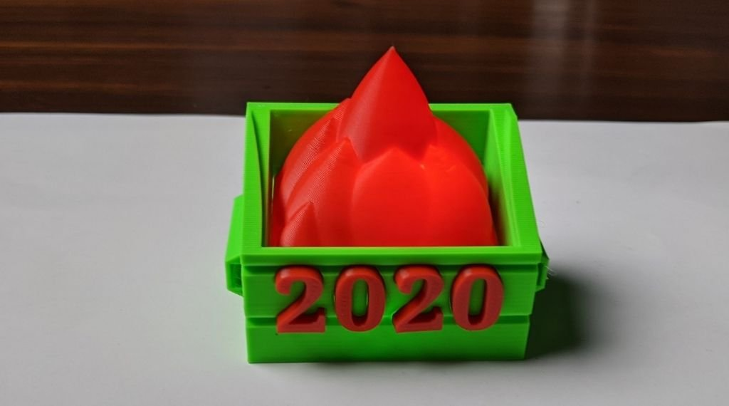 Dumpster 2020 Fire lamp